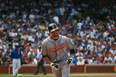 Mark DeRosa (mikepix) Tags: chicago baseball cleveland indians cubs wrigleyfield 2009 bullpinbox