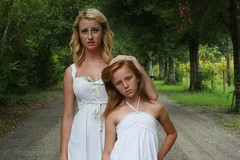TAYLOR & AUTUMN BLAKE. (Ally Newbold) Tags: street camera autumn trees girls portrait white slr nature girl sisters digital canon out allison lens photography rebel florida sister earth together taylor killa alive mm straight f18 50 sooc xti superperfect