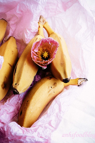 Banana and flower from the market