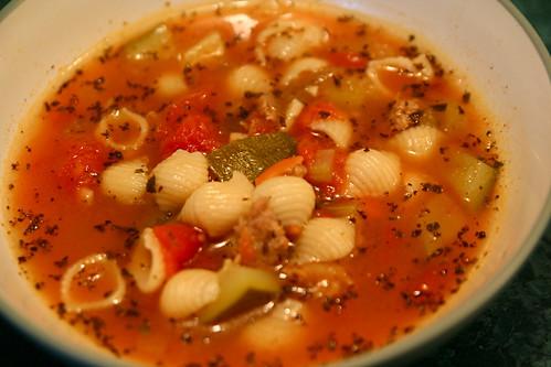 Simple vegetable pasta soup recipe