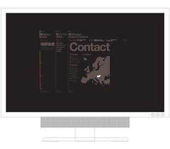 G Y  R Website layout - Contact (Official Classic) Tags: hungary budapest identity vector postproduction branding typeface gyr officialclassic
