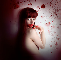 Mein Teil (Severine.) Tags: canon dark blood vampire longhair redhead wig bloody softbox trueblood