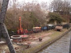 Boring by Barton Swing Bridge (Andrew L. Roberts) Tags: manchester canal manchestershipcanal traffordpark