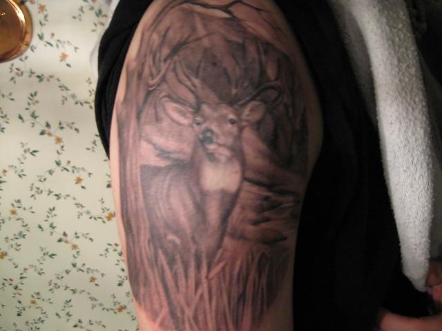 Deer skull tattoos whitetail deer tattoos deer hunting tattoos and