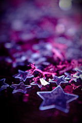 The true harvest of my life is intangible - a little star dust caught, a portion of the rainbow I have clutched (Jerrycharlotte) Tags: pink red macro coral glitter lensbaby canon dark lens stars aperture pretty purple princess bokeh shaped magic creative explore diopter