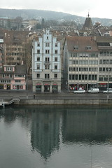 Townhouse Reflection in the Limmat (terminal orbit) Tags: house reflection river grey team triangle photoshoot walk zurich february altstadt oldtown 2009 gable stepped niederdorf limmat panoramio viewfromlindenhof