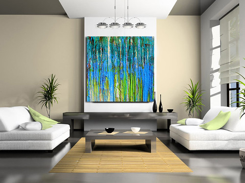 Large Original Abstract Painting DRIP