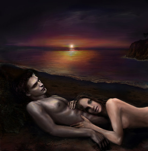Edward and Bella on Isle Esme by nicolebarker on Deviantart by Venomous.☆.Kiss.