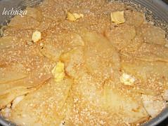 Tarta de bacalao-cubir con patatas