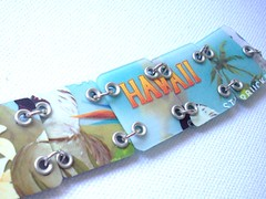 Hawaiian Delight (Jupita) Tags: recycled jewelry starbucks giftcard upcycled starbuckscard jupita