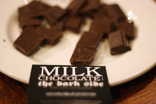 Milk chocolate dark side
