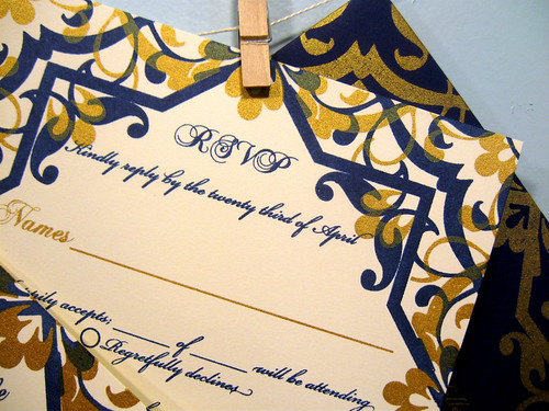 Adrianne & Casey's Spanish tile invitations