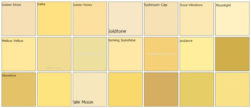 Yellow paint: Designers' favorite colors