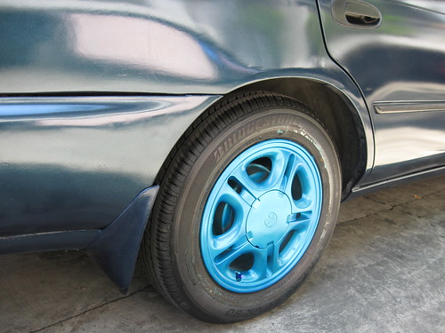 Blue Colored Wheels