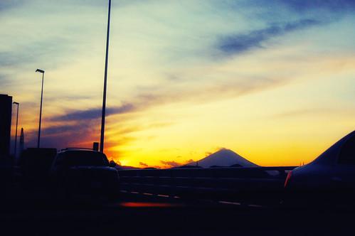 Mt Fuji on Magic hour