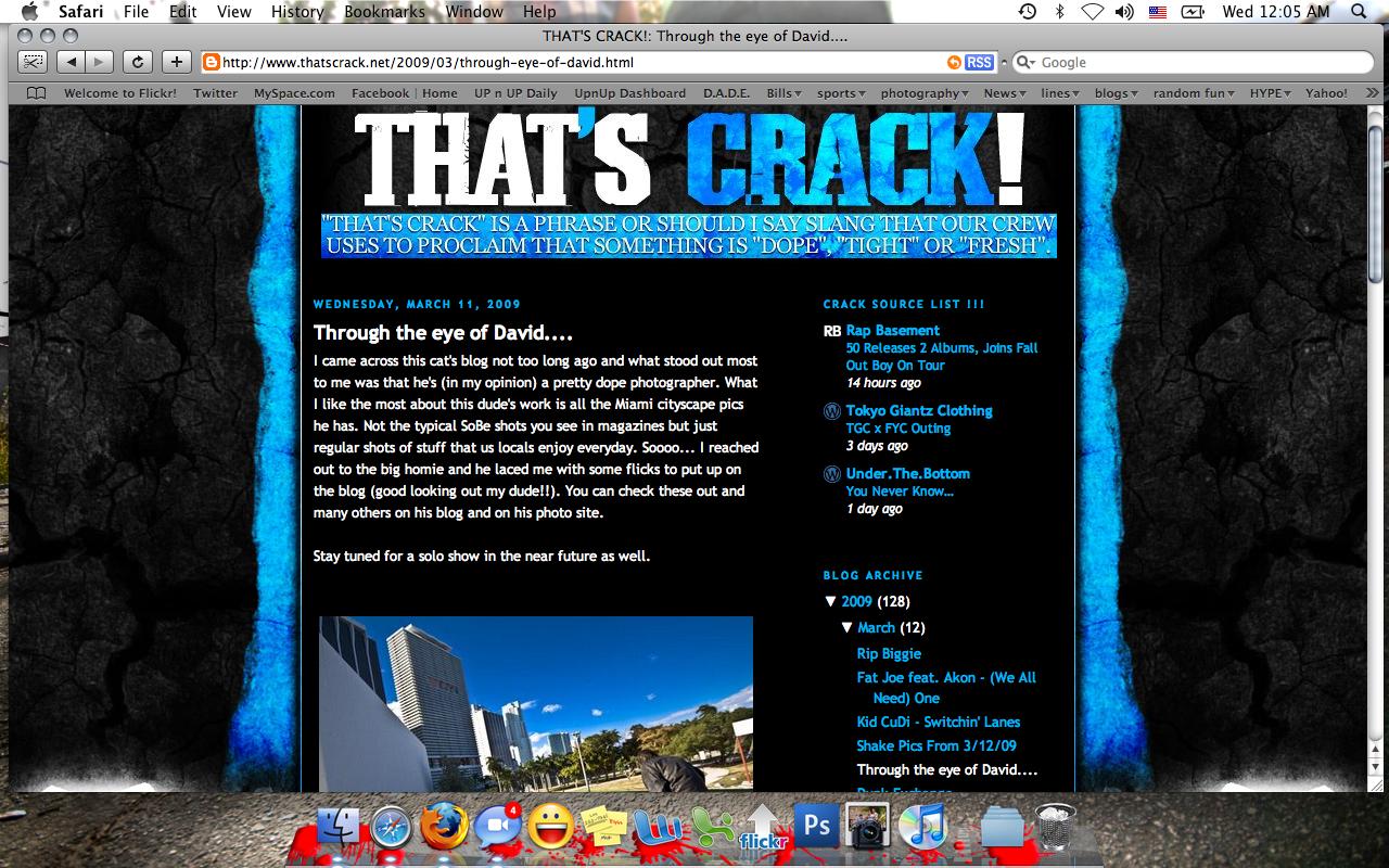 Write about me on Thatscrack.net