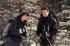 My friends Manal and Matej (eyeCatchLight Photography) Tags: park winter national chalet parc monttremblant crosscountryskiing manal matej parcnational crosscountryskinikond90winter