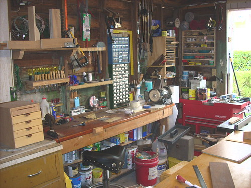 West Wall Work Bench