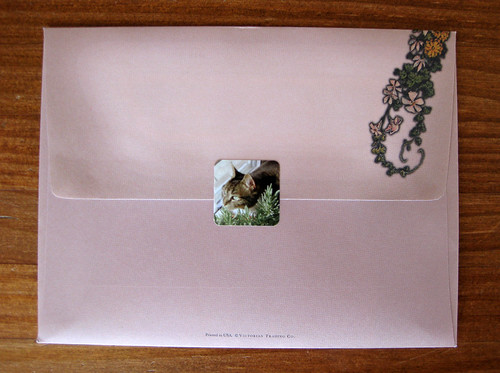 Victorian Greetings Antebellum envelope, back