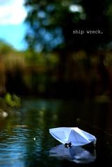 shipwreck (adentranter) Tags: water paper daylight boat f18 thesun d40x adentranter havingfunnearwater