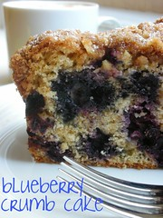 blueberry crumb cake by awhiskandaspoon