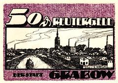 Grabow, 50 pf, 1922 (Iliazd) Tags: germany notgeld papermoney inflationary germancurrency emergencymoney germanpapermoney