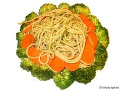 Spaghetti in Basil Pesto Sauce
