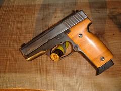 Kahr K9 bamboo grips (cross cut) 3 (xxtexx) Tags: wood gun bamboo pistol custom handgun k9 9mm grips kahr