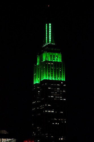 Empire State Green for Paddy's Day