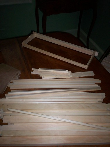 wooden parts to the super and frames