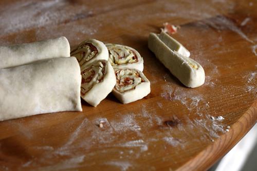 Prosciutto Dijon and Gruyere Puffs