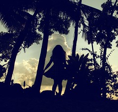 alice (anne()marie) Tags: trees sky house mountain leaves silhouette clouds self anne vines dress skirt resort retreat don form bosco mambucal 52weeks