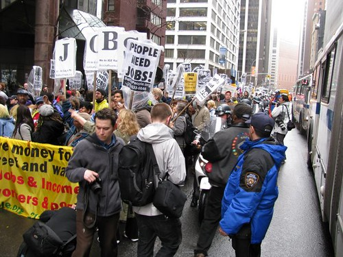 Bail Out the People Movement march on Wall Street against the financial crisis of capitalism. The demonstration was held on April 3, 2009. (Photo: Alan Pollock) by Pan-African News Wire File Photos