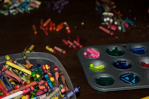 Extending the life of broken crayons