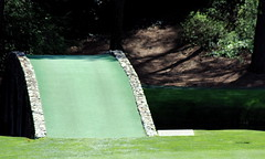 The Hogan Bridge At The 12th Hole (Golden Bell) (Curiouser*Curiouser) Tags: argentina golf georgia hole champion augusta 12 win cabrera perry themasters playoff amencorner greenjacket kennyperry practiceround canoneos40d angelcabrera butlercabin curiousercuriouser masters2009 thegoldenbell thehoganbridge bonnieblanton thetwelfthhole