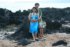 me & wifey (Philip Q) Tags: beach hawaii phil maui marissa philip maris makena lep makenacove endofwaileaalanuiroad