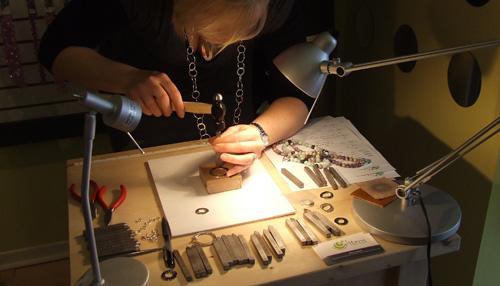 Karen stamping silver