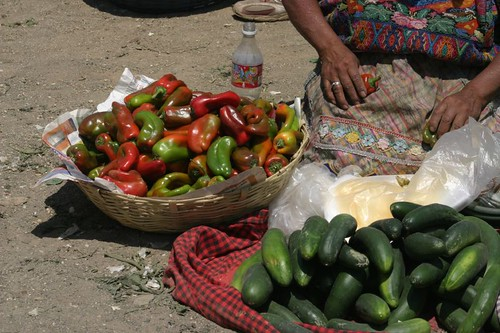 Street vendor in Antigua.