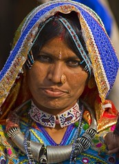 Harijan tribal woman (bag_lady) Tags: portrait india female necklace women indian tribal jewellery gujarat adornment kutch bhuj marwar harijan meghwal bhujodi earthasia