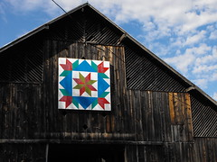 LeMoyne inside Swallows (americanquilttrail) Tags: quilt tennessee barns