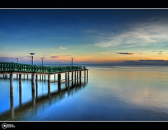 Revisited | FP (rev_adan) Tags: morning bridge blue trees mist beach water beautiful sunrise canon easter de eos day coconut philippines sunday bamboo explore frontpage hdr cagayan oro mindanao subrise 40d opol tabingdagat revadan vosplusbellesphotos garbongbisaya effectiveangtagngaexplorenohehe