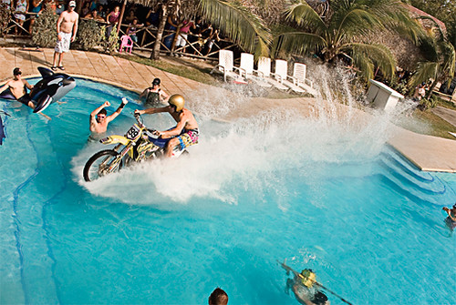 Nitro Circus Motorbike swimming pool