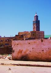 Behind the facade (operaline) Tags: building garden muslim religion mosque line clothes casablanca fortress