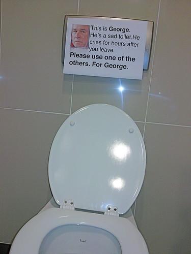George the sad toilet