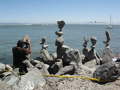 Balancing rocks by the Sausalito shore