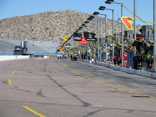 Pit Road at Phoenix International raceway