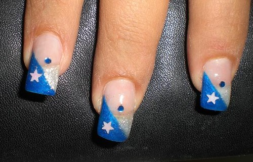 nail White star on blue nail art designs gallery nail art designs gallery
