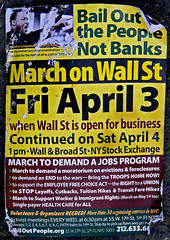 March on Wall Street Flyer (tripletstate) Tags: nyc newyorkcity newyork peace manhattan protest demonstration antiwar wallstreet socialissues peacemovement socialcause marchonwallstreet