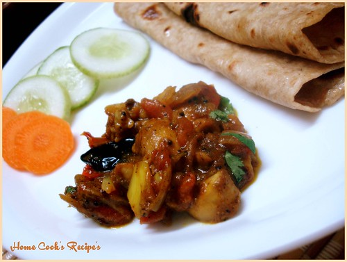 Mushroom Curry with Chapathi