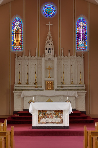 Saint Norbert Roman Catholic Church, in Hardin, Illinois, USA - altar